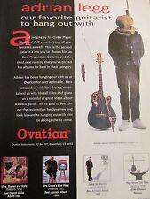 Adrian Legg, Ovation Guitars, Full Page Vintage Promotional Ad