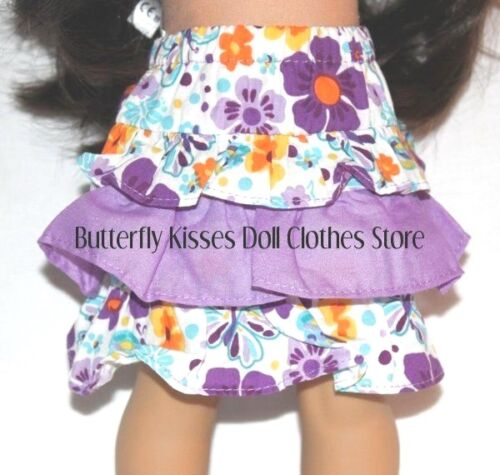 Hello Kitty Purple Flower Skirt Set 18 in Doll Clothes Fits American Girl