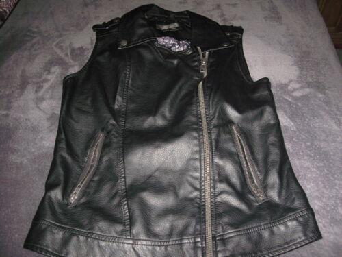 bagatelle vest faux leather black xs