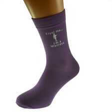 Trust me I'm a Waitress Image Ladies Purple Socks UK Size  4-8 X6N522