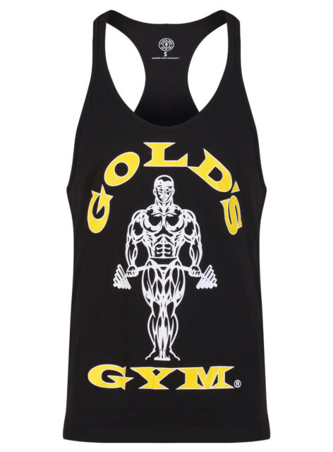 31288ae773124 Golds Gym 2016 Mens Muscle Joe Premium String Vest Stringer Tank Top ...
