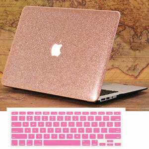 new product 9a466 efa80 Details about Rose Gold Glitter Bling Case + Keyboard Cover for MacBook AIR  PRO 11