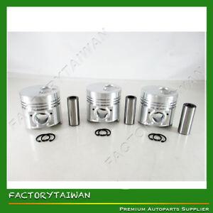 Pistons Set STD for ISUZU 3KR1 (100% TAIWAN MADE) x 3 PCS