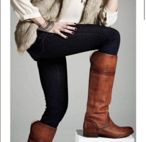 Frye Melissa Trapunto Leather Riding Boots