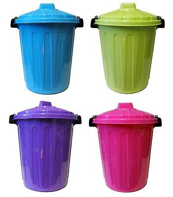 25L LARGE CHILDRENS PLASTIC STORAGE KITCHEN DUST WASTE RUBBISH TIDY TOY BIN BINS