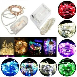 20-100 LED Battery Micro Rice Wire Copper Fairy String Lights Party In//Outdoor