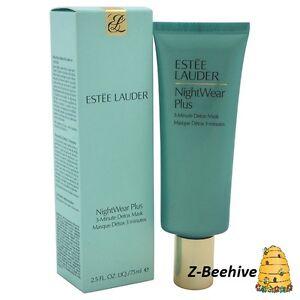 ESTEE LAUDER/NIGHTWEAR PLUS 3-MINUTE DETOX MASK 2.5 OZ (75 ML) 4 Pack Palmers Moisture Rich Night Cream for Overnight Renewal 2.7oz Each