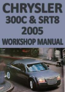 chrysler 300c srt8 2005 workshop manual ebay rh ebay ie chrysler 300c workshop manual download 2006 chrysler 300c shop manual