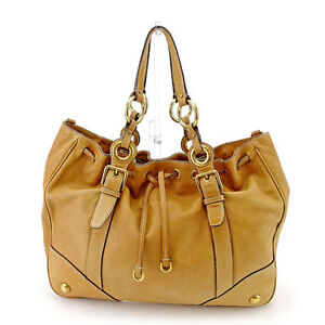 Dolce-amp-Gabbana-Shoulder-bag-Brown-Woman-unisex-Authentic-Used-T718