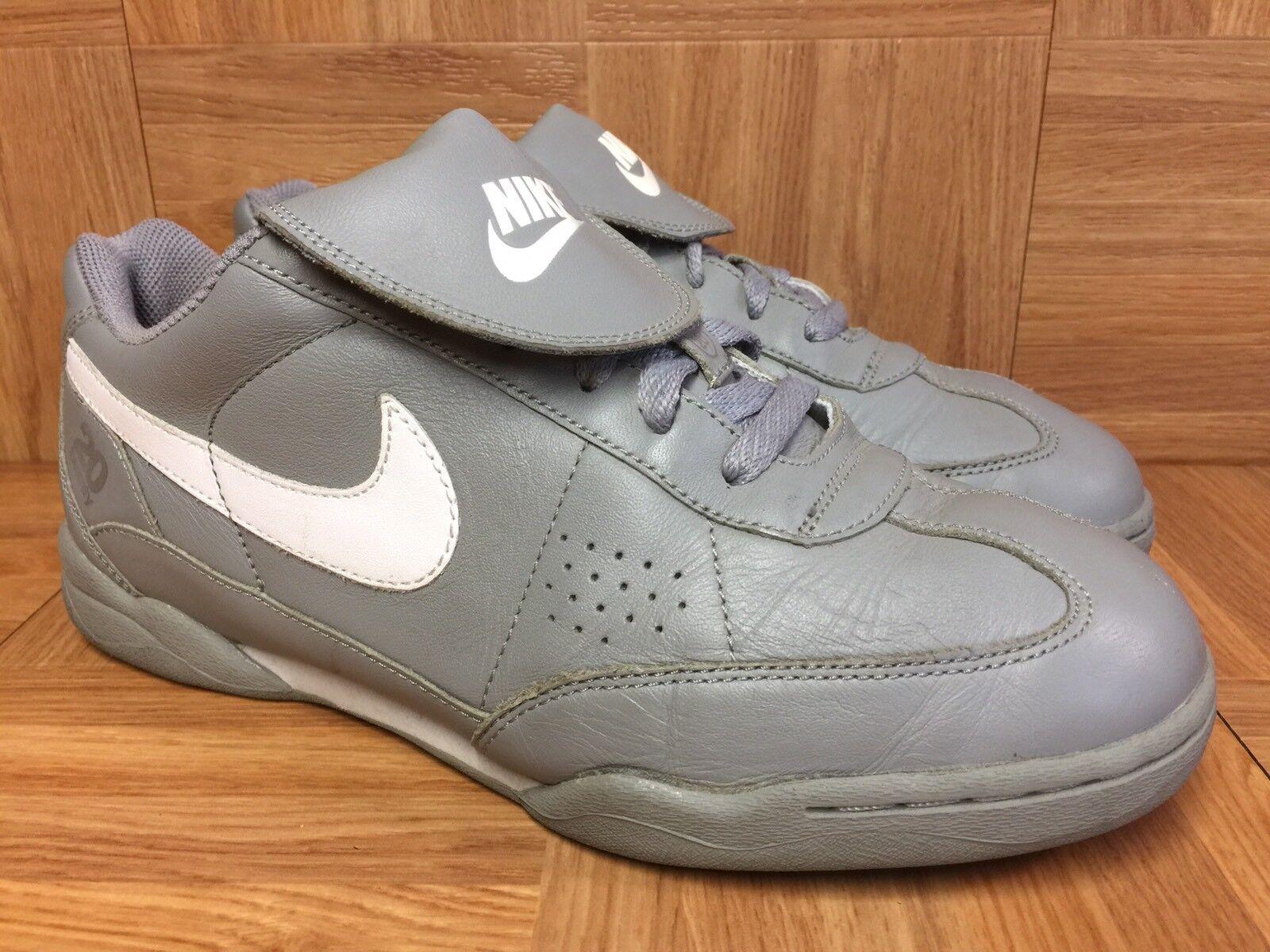 Vntg nike 20 pelle / 20 vintage in pelle 20 grigia scarpe sz 9 2004 scarpe da uomo 221b8b