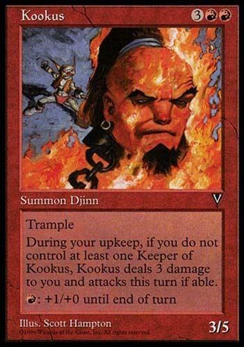 1x Kookus Visions MtG Magic Red Rare 1 x1 Card Cards