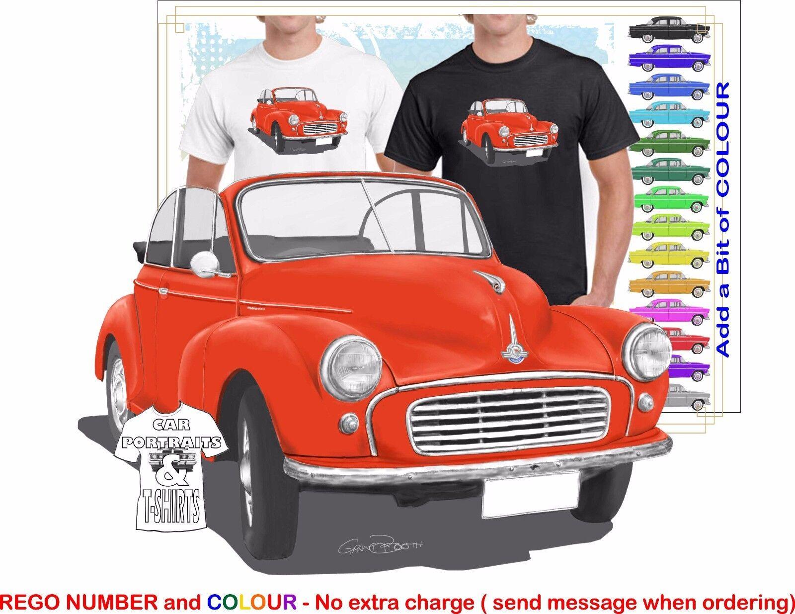 CLASSIC 52-56 MORRIS MINOR CONgreenIBLE ILLUSTRATED T-SHIRT MUSCLE RETRO CAR