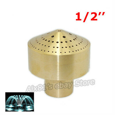 "DN15 1/2"" Brass Fireworks Fountain Nozzle Spray Pond Sprinkler Head Column Style"