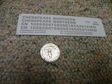 Herald King decals HO Chesapeake Northern silver  ZZ62