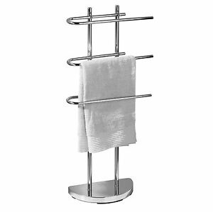 Image Is Loading Stainless Steel Free Standing Towel Rail Stand Bathroom
