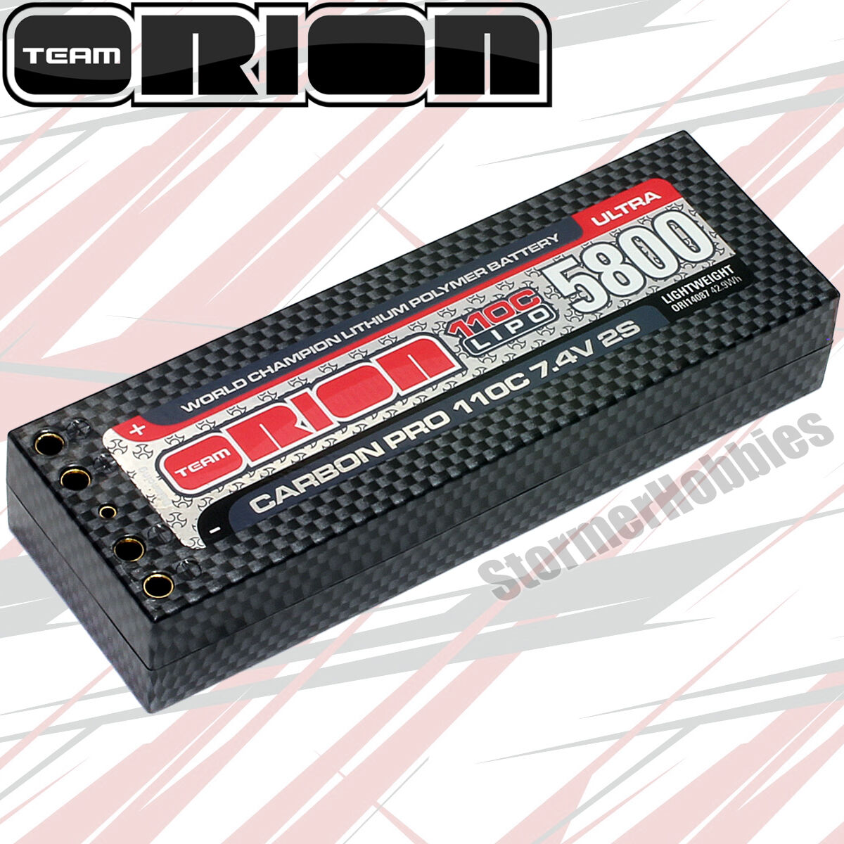 Orion 5800mAh Ultra  110c Lightweight LiPo 7.4v 2S Battery, 4mm Tubes    ORI14087  senza esitazione! acquista ora!