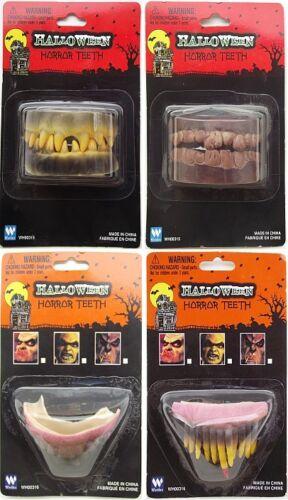 DENTIERA HORROR HALLOWEEN denti zombi carnevale zombie