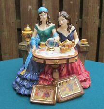 "ROYAL WORCESTER FIGURE ""LUCKY IN LOVE"" GYPSY FORTUNE TELLER AT MID-SUMMER FAIR"