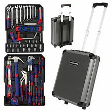 WORKPRO 111PC Tool Kit Aluminum Trolley Chrome Vanadium Steel Home Tool Set New