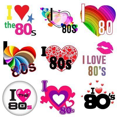FäHig I Love The 80s Flash Back Iron On Heat T-shirt Transfer Personalize 6021736 ® Blut NäHren Und Geist Einstellen