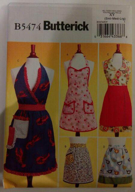 Butterick Apron Sewing Pattern B40 XY 40 Styles Uncut EBay Unique Apron Sewing Pattern
