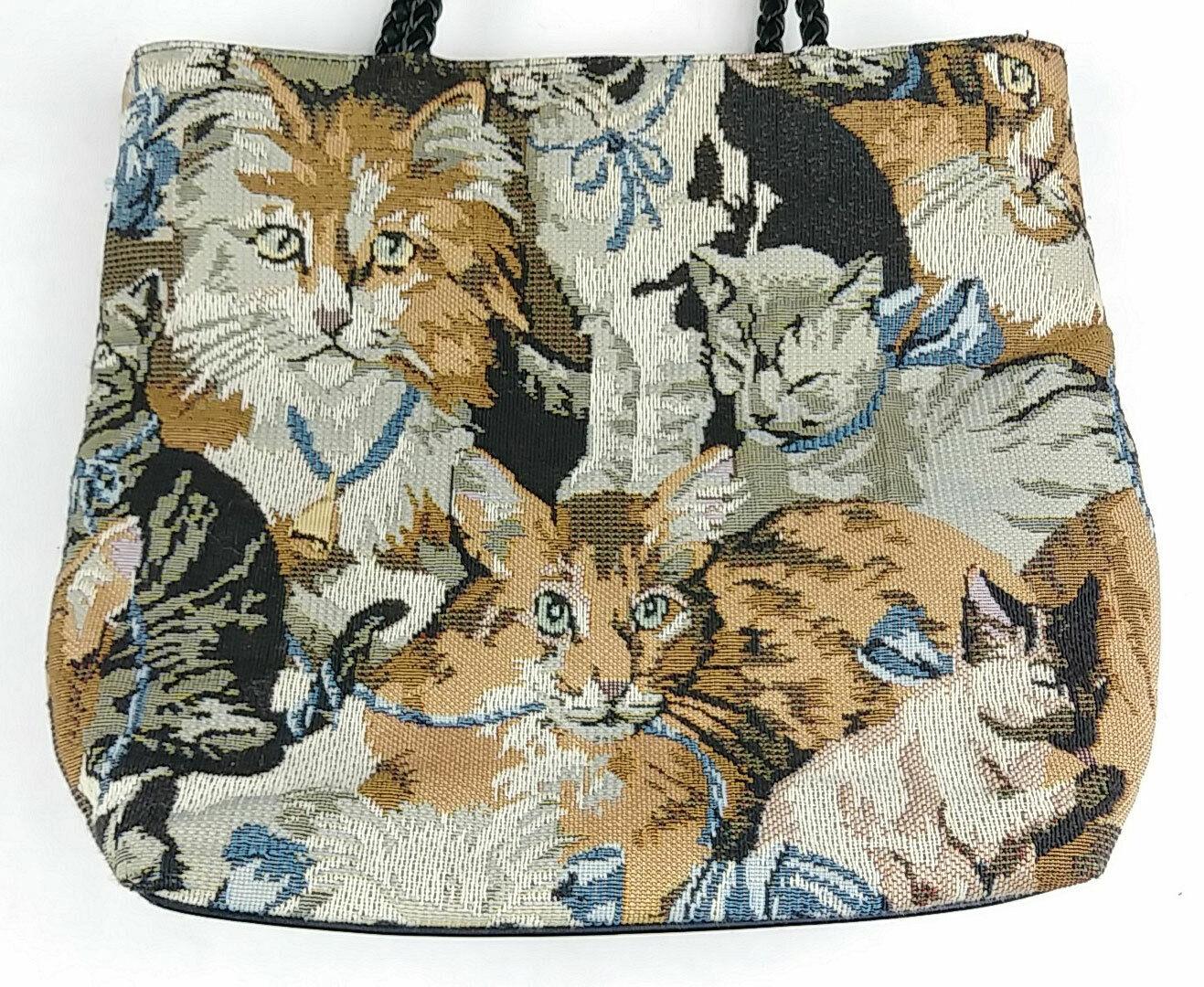 Bueno Cat Kittens Tapestry Shoulder Bag - image 2