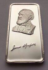 1975 JAMES A. GARFIELD 20TH PRESIDENT HAMILTON MINT 1 TROY OZ .999 SILVER BAR