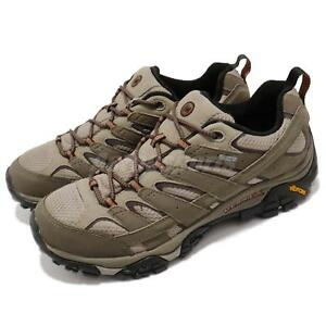 Merrell-Moab-2-GTX-Olive-Green-Vibram-Gore-Tex-Men-Outdoors-Hiking-Shoes-ML42487
