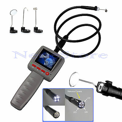 LCD 2.4 Video Inspection Borescope 1m Endoscope Pipe 10mm Camera Snake Scope