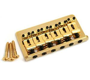 Gold-Fixed-Guitar-Bridge-for-Hardtail-Fender-Stratocaster-Strat-SB-0100-002
