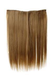 Haarteil-breit-Haarverlaengerung-5-Clips-glatt-Blond-Goldblond-45cm-L30173-24B