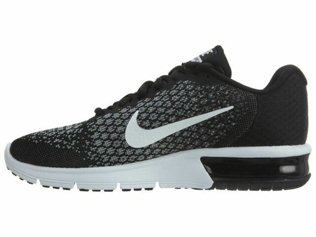 exquisite style 7f88d a016d Nike Air Max Sequent 2 Black White Gray Running Shoe Men's Size 852461005 11