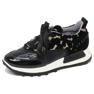 new style eeeab 843c9 Details about F4390 sneaker donna tissue/velvet BARRACUDA scarpe black/gold  shoe woman