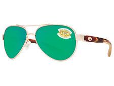 Costa Del Mar Loreto LR 64 Rose Gold Square Sunglasses Green 580p