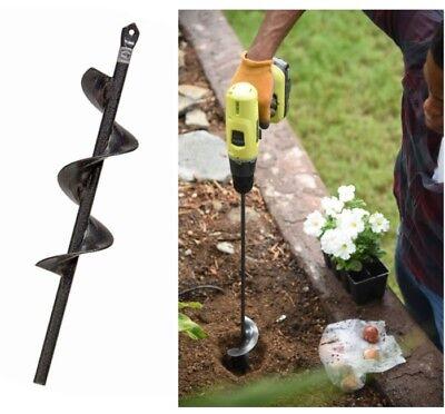 9/'/'Planter Garden Auger Hole Digger Spiral Drill Bit Attachment Home Yard Garden