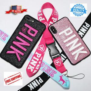 Victoria s Secret PINK 3D Glitter iPhone Pink Black Phone Case 6 513fd9f00765