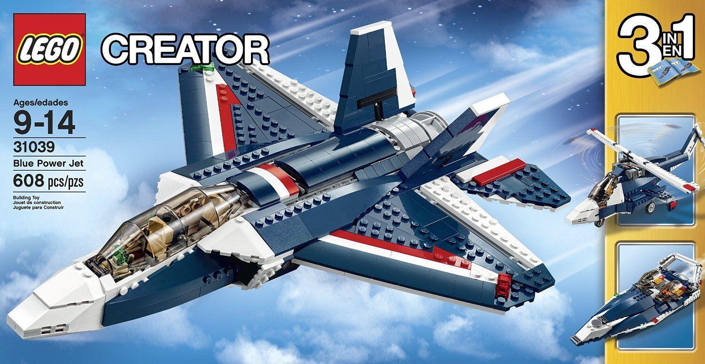 LEGO Creator 31039 3-in-1 blu Power Jet Building Kit, LEGO CREATOR SETS Nuovo