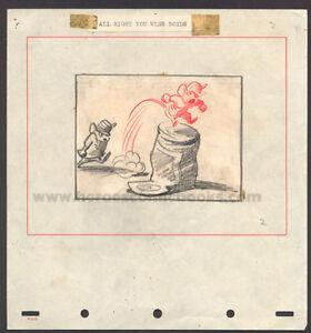 WALT DISNEY STUDIOS DUMBO STORYBOARD/CONCEPT DRAWING OF TIMOTHY MOUSE (1941) (B)