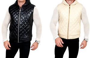Veste cuir Veste pour hommes cuir en en matelass FwFBI