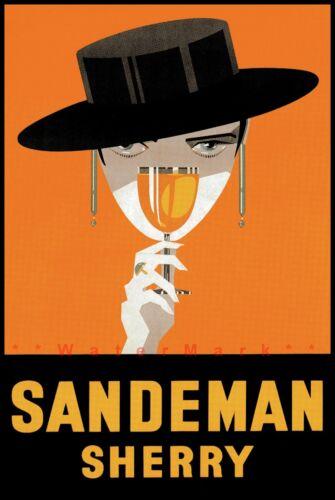 Sandeman Sherry 1925 Vintage Poster Print Retro Style Liquor Art Wall Decor