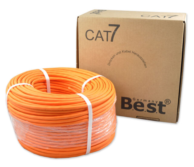 CAT.7 Verlegekabel BEST Gigabit Netzwerkkabel KUPFER Lan 1000Mhz S/FTP KAT 7