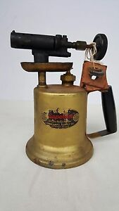 Vintage-Brass-Welding-Blow-Torch-Wall-Superior-Products-No-33