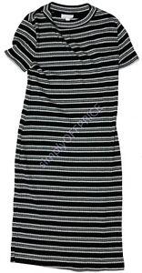 NWT-Women-039-s-Maternity-Short-Sleeve-Dress-Black-Gray-Liz-Lange-Size-sz-XS-S-M-L