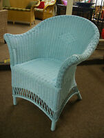 Wicker Chair Loom Style - Cane Chair - Sky Blue