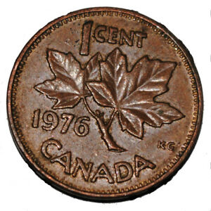Canada 1976 1 Cent Copper One Canadian Penny Coin Ebay