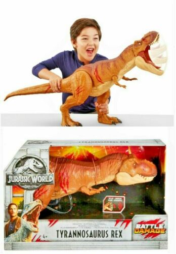 Super Colossal Tyrannosaurus Jurassic World Battle Damage Roarin  Rex SALE