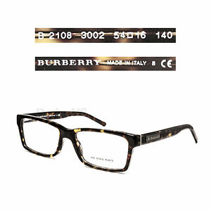 dc813005f8f Image is loading Burberry-B-2108-3002-Eyeglasses-Rx-Optical-Made-
