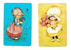 Mary-Hamilton-Little-Lassies-Girls-Pair-of-Swap-Playing-Cards-Vintage