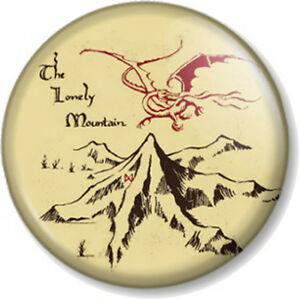 The-Lonely-Mountain-25mm-1-034-Pin-Button-Badge-The-Hobbit-JRR-Tolkien-Novelty-Geek