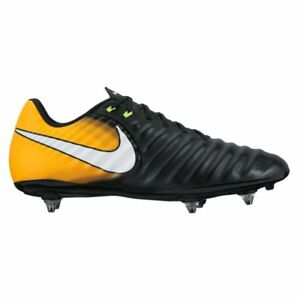 reputable site 16d4d ddf7c NIKE TIEMPO LIGERA IV (SG) Chaussures de foot - Noir / Laser orange ...